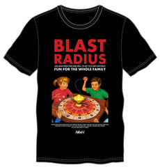 Blast Radius Board Game Men's Black T-Shirt