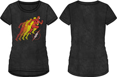 DC Comics Flash Running Logo Women's Black T-Shirt