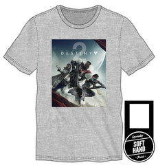 Destiny 2 Specialty Soft Hand Print Men's Gray T-Shirt