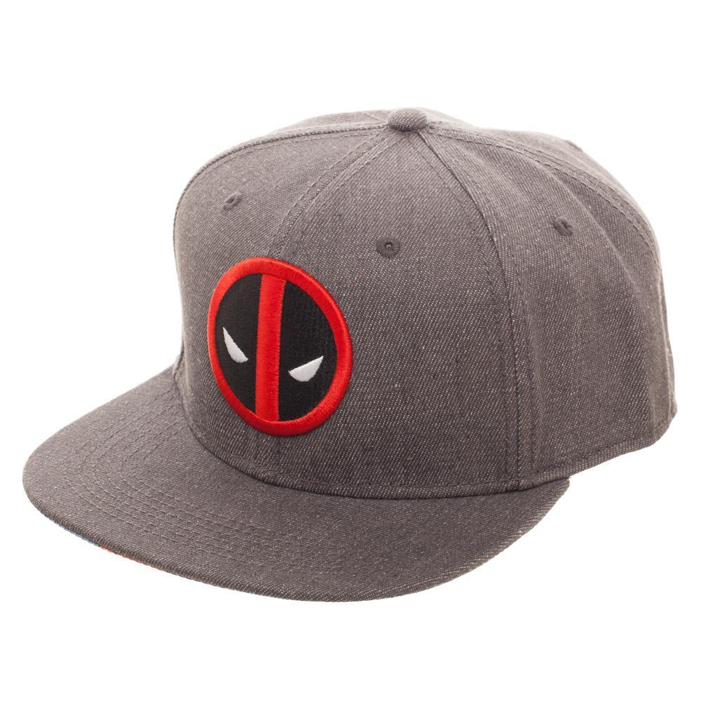 Embroidered Deadpool Logo Flatbill Flex Cap - Baseball Cap / Snapback