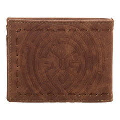Westworld Logo Bi-Fold Wallet with Saddle Stitching
