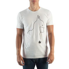 Batman Silhouette White T-Shirt