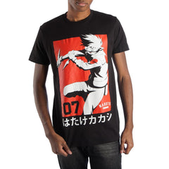 Kakashi Hatake Team 07 Manga Men's Black T-Shirt