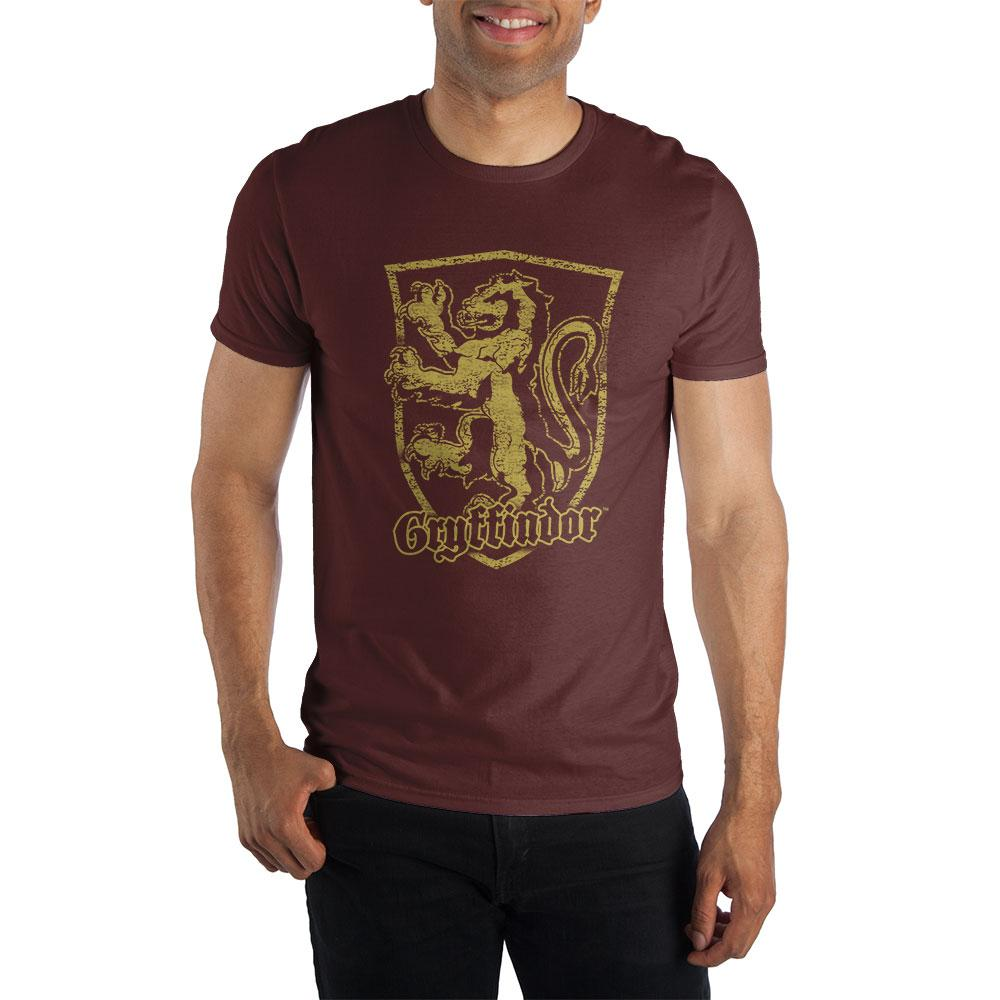 Harry Potter Gryffindor Logo Men's Burgundy T-Shirt