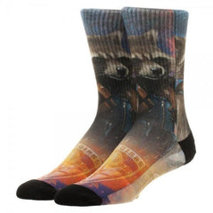 Guardians of the Galaxy Rocket Sublimated  Crew Socks