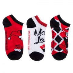 Harley Quinn Women's Ankle Socks 3 Pack