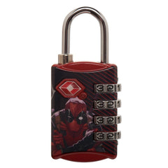 Marvel Comics Deadpool TSA Approved Travel Combination Luggage Lock