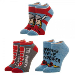 Marvel Thor Youth Ankle Socks 3 Pack