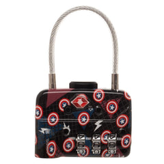 Captain America Logo Travel Combination Cable Luggage Lock - TSA Approved
