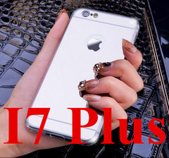 High Quality Fashion Deluxe Mirror TPU Clear Soft Phone Case Cover for iPhone 4 4S 5 5S 6S 6 7 Plus Case Cover