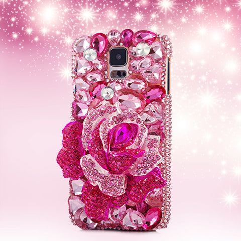 Luxury 3D Crystal Diamond Rhinestone Case Cover for Samsung Galaxy S6 S7edge S3 4 5 Ntoe 3 4 5