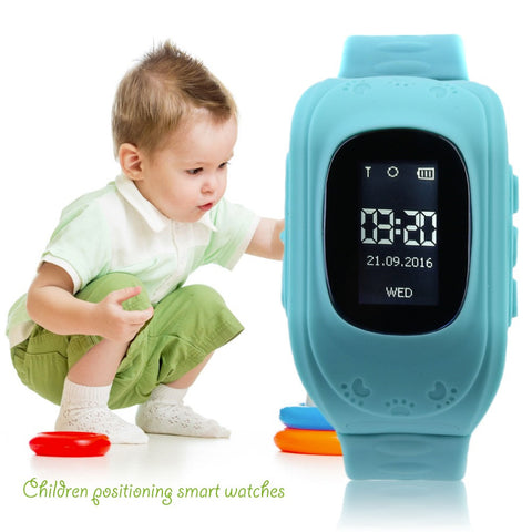 Fashion Anti Lost Children Kid Smart GPS Position Rubber Band Wrist Watch Bracelet Electronic Watch Q50 For Android For IOS