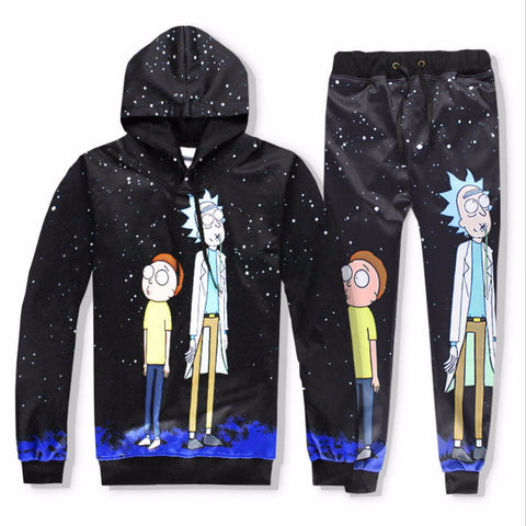Casual Unisex Rick and Morty  Print Hoodies or Pants (Sold Separate)