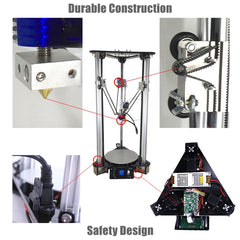 "3D Printer Kit - ""Kossel Delta 3D"", Smart Leveling Automatic Feeding"