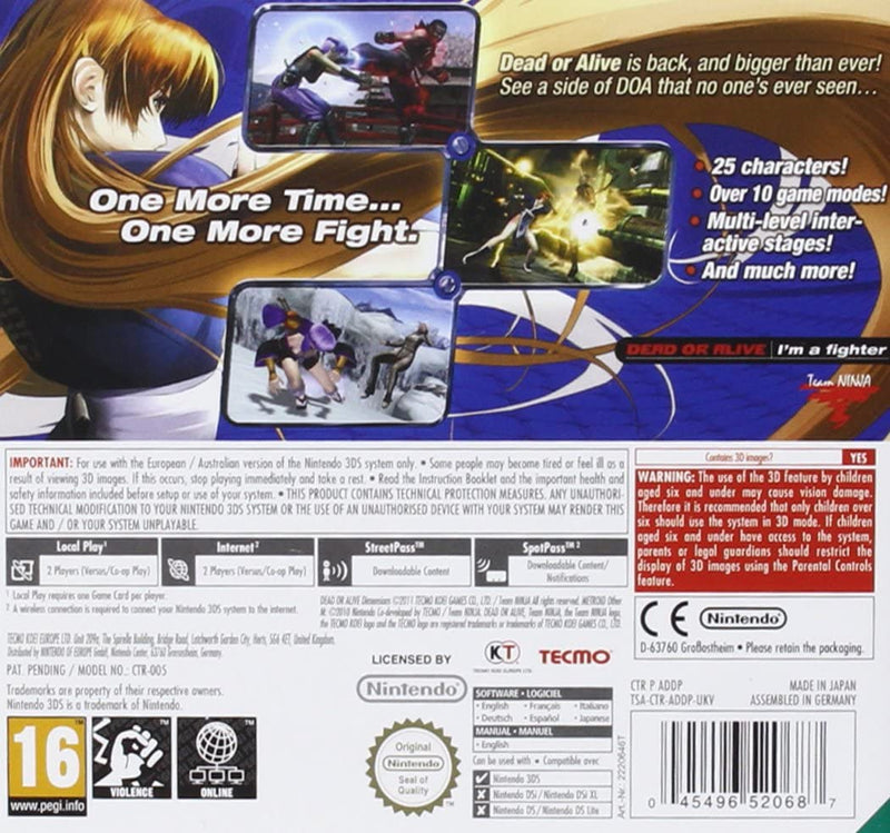 Dead or Alive Dimensions /3DS