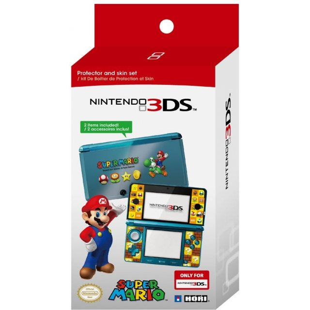 Nintendo 3DS Super Mario Protector and Skin Set (Hori) /3DS
