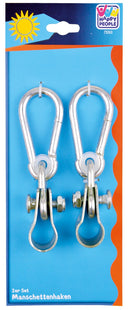 Happy People 73263 Metal Hooks with Pipe Clamp /Homeware