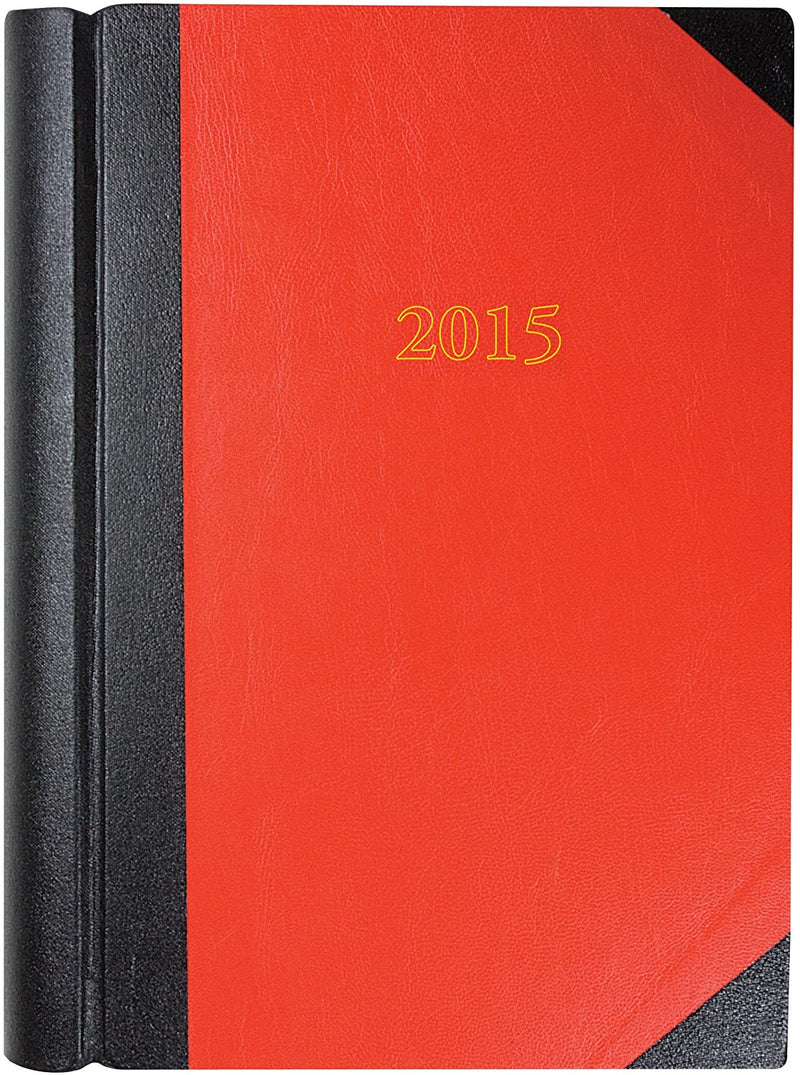 Collins Luxury A4 Two Pages to a Day Diary for 2015 - Red  /Stationary