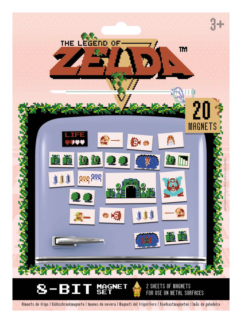 Nintendo: The Legend of Zelda (Retro) Magnets /Merchandise