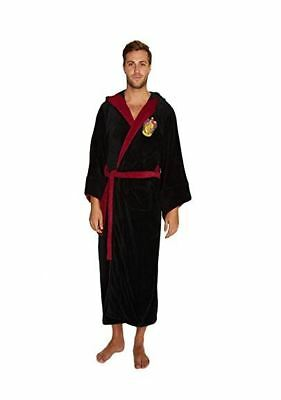 Harry Potter Gryffindor Fleece Bathrobe Black/Burgundy Oversized Hood and Sleeves /Merchandise