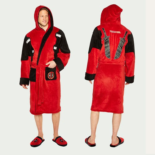 Deadpool Hooded  Robe - Adult One Size /Merchandise