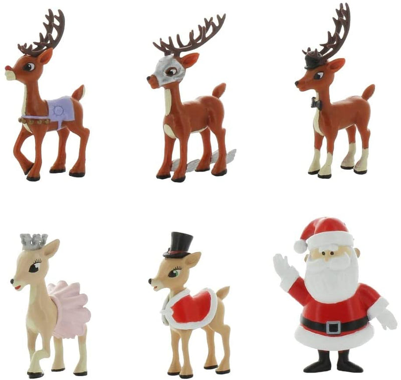 TEAM Rudolph Reindeer Stocking Foilbag 18 piece CDU (series 1.5) / Toys