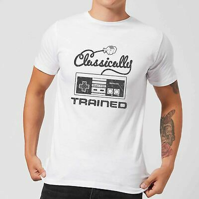 Nintendo Retro NES Classically Trained Mens White T-Shirt (LARGE) /Clothing