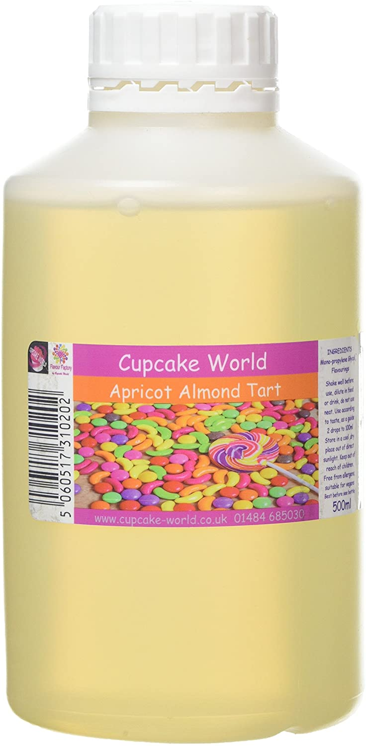 C.World - Apricot and Almond Tart Intense Food Flavouring (500 ml) /Food