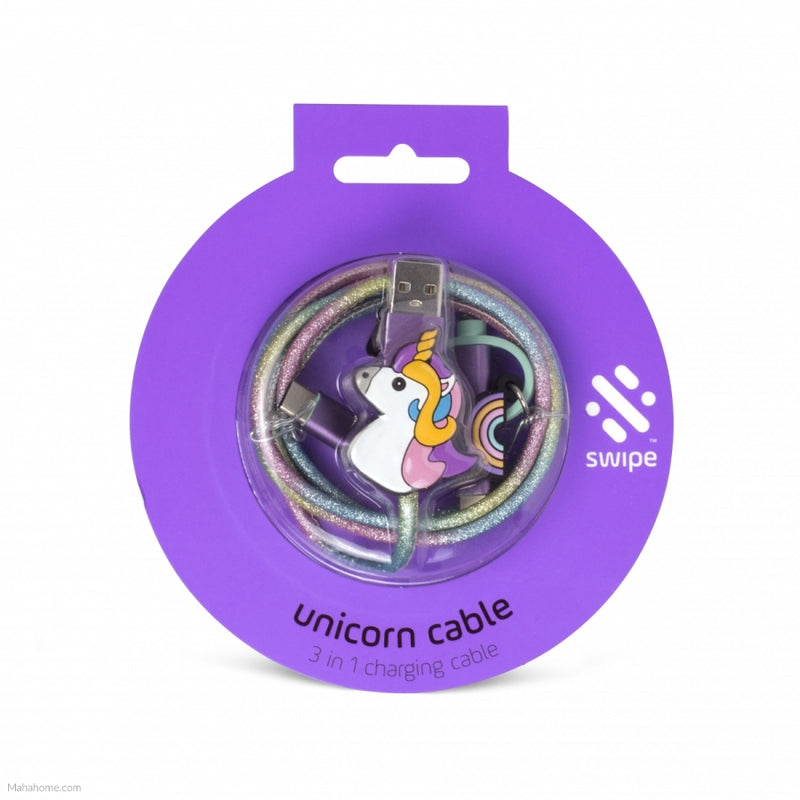 Swipe: 3-in-1 Cable - Unicorn /PowerLead