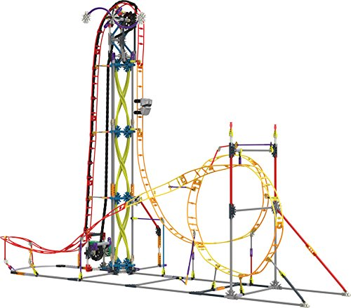 K'NEX Thrill Rides Electric Inferno Roller Coaster Building Set for Ages 9+, Engineering Education Toy, 639 Pieces