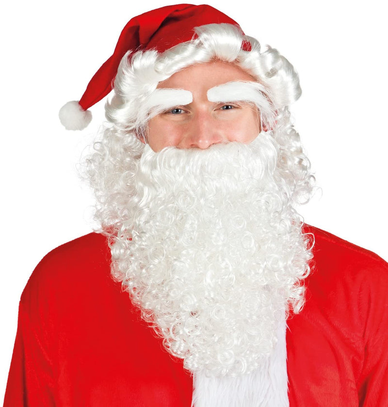 Boland - Costume Set Santa Claus, Hat, Wig, Eyebrows and Moustache /Costume