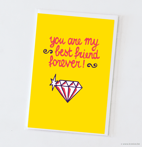 "Friendship card ""BFF"""