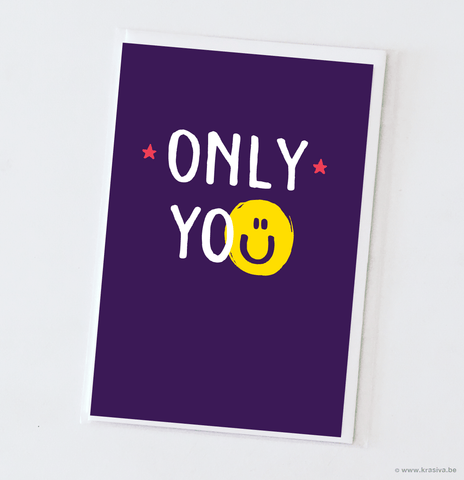 "Friendship card ""Only you"""