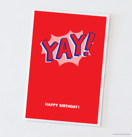 "Birthday card ""Yay!"" - Wholesale"