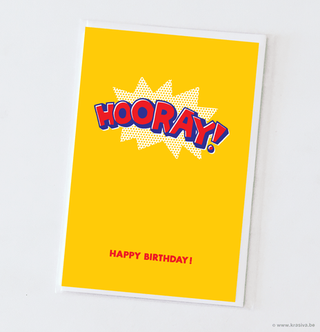 "Birthday card ""Hooray!"""