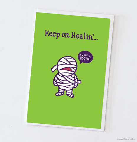 "Get well card ""I have a booboo."""