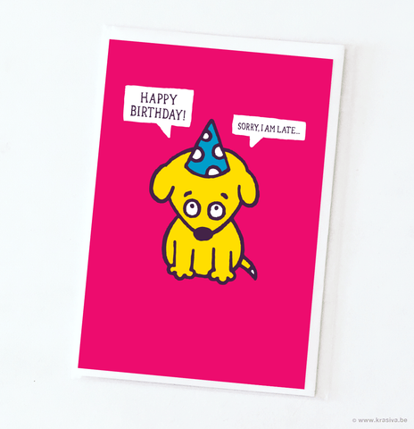 "Birthday card ""Sorry"""