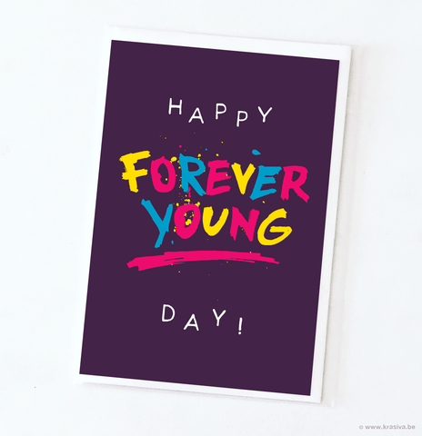 "Birthday card ""Forever young"" - Wholesale"
