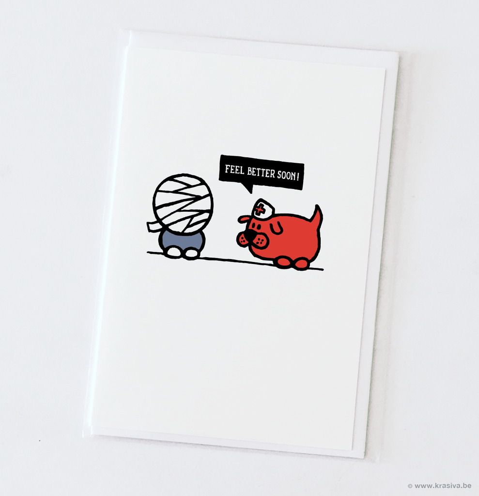 Heroes for ghosts Get well Card