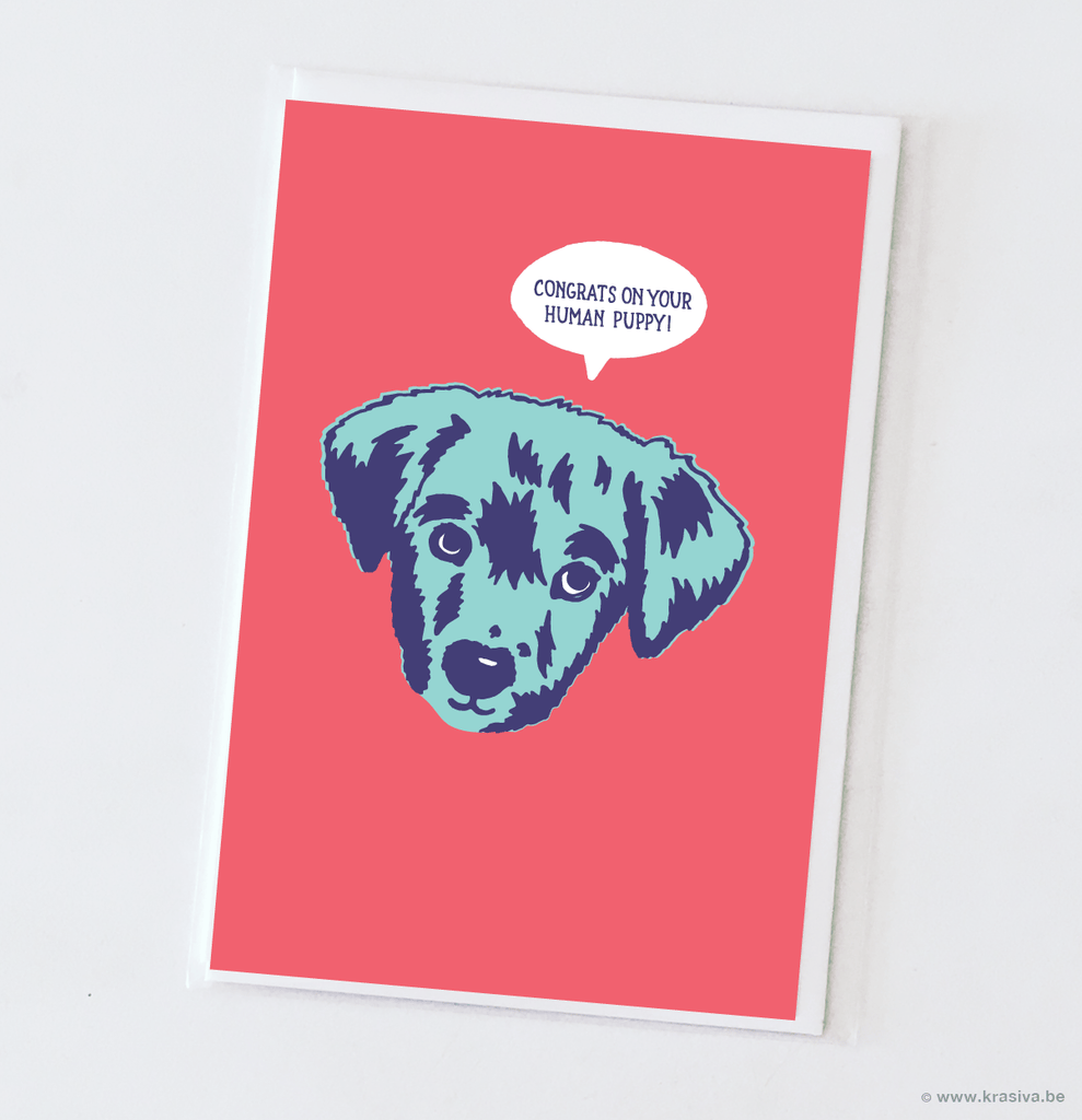 "New baby card ""Puppy"""