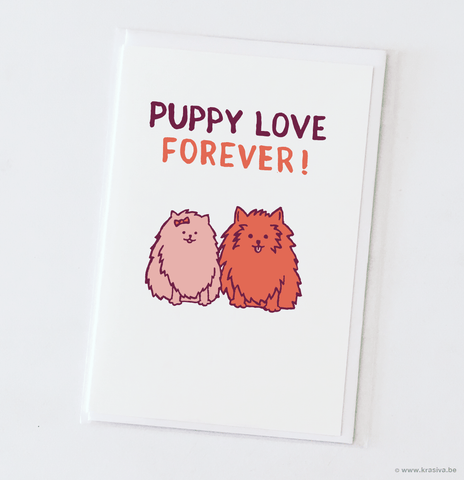 "Wedding card ""Puppy love"""