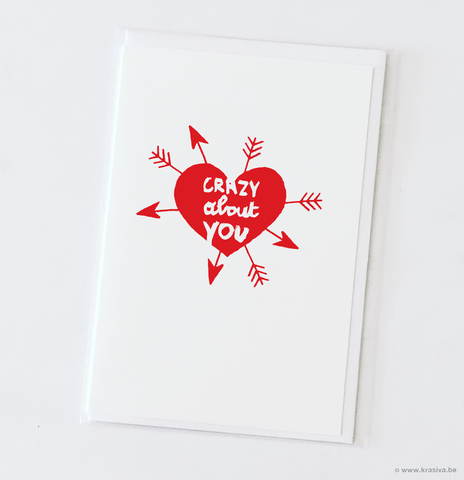 "Love card ""Crazy about you"""