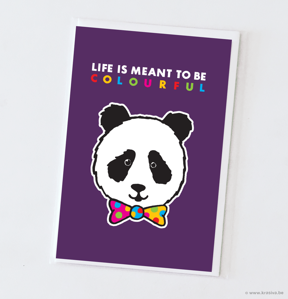 "Random card ""Life is meant to be colourful"""