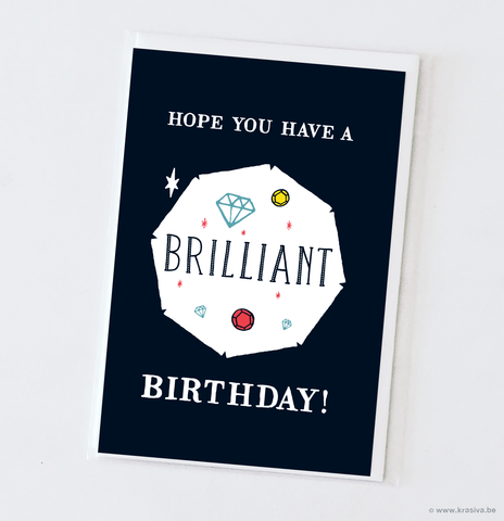 "Birthday card ""Brilliant"""