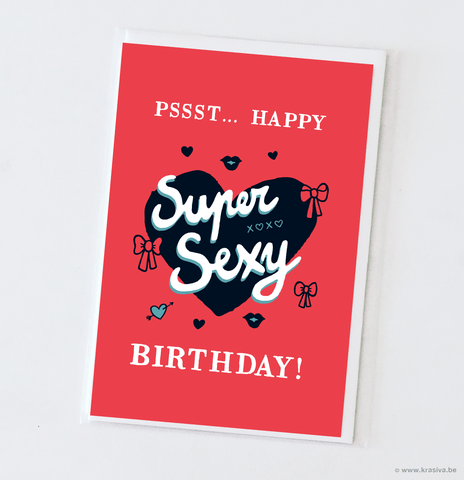 "Birthday card ""Supersexy"" - Wholesale"