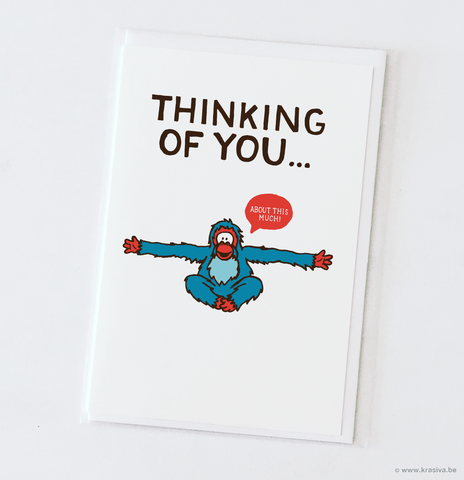 "Friendship card ""Thinking of you..."""