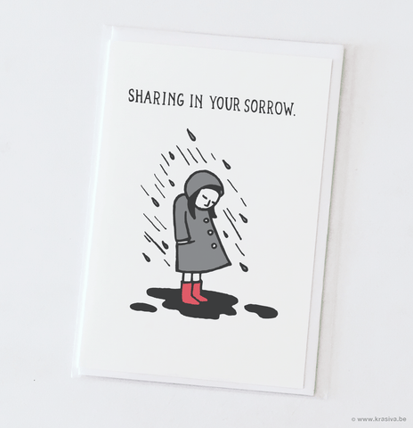 "Sympathy card ""Sharing in your sorrow"""
