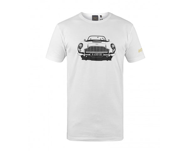 Aston Martin - DB5 MINI GUNS T-SHIRT UNISEX - WHITE