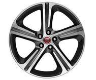 "Jaguar F-Pace Alloy Wheel - 20"" Blade, 5 Spoke, with Grey Diamond Turned Finish"