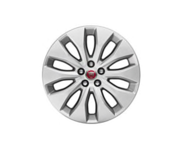 "Jaguar F-Pace Alloy Wheel - 18"" Aerodynamic, 10 Spoke, with Silver Finish"